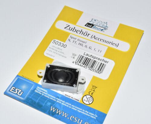 16 x 25 mm eckig 4 Ohm mit Schallkapsel NEU in OVP ESU 50330 Lautsprecher