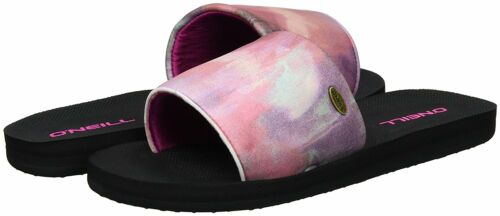 O/'NEILL WOMENS SLIDERS.NEW SLIP ON POOL SLIDE NEOPRENE BEACH SANDALS 7S 523//4956