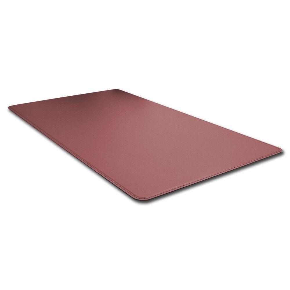 Schreibunterlage Leder Bordeaux Rot Abgerundeten Kanten und Gleitschutz cm 90x60 | Schön geformt  | Günstige Preise  | Verschiedene Stile