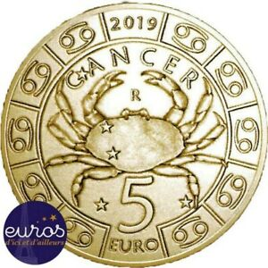 Piece-de-5-euros-commemorative-SAINT-MARIN-2019-Horoscope-Cancer-4-12