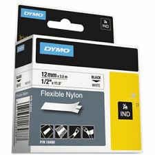 Dymo Dym18488 Rhino 5200 Flexible Nylon Label Tape 12 X 11 12 Ftwhiteblack