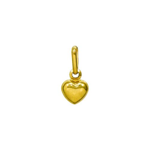 14K Or Jaune Coeur Charme Pendentif 0.34 in environ 0.86 cm