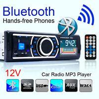 Bluetooth Car Stereo Audio In-Dash 1 Din FM Aux Input Receiver SD USB MP3 Radio