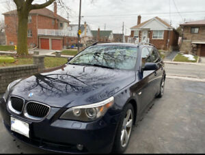 2007 Blue BMW 530xi Wagon Touring for sale