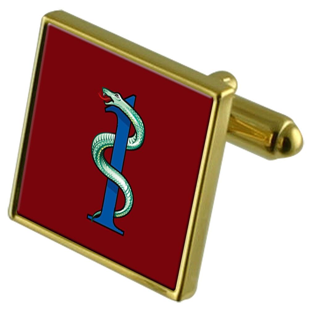 Militare Militare Militare 1 Medico Regiment Colore oro Gemelli 4be980