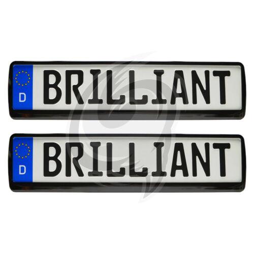 Mazda 2x Brilliant Black Look License Plate Holder Number