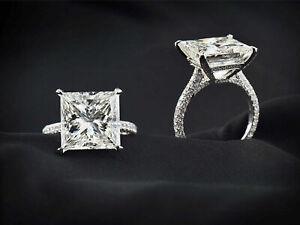 3-00Ct-Princess-Cut-VVS2-Diamond-Solitaire-Engagement-Ring-14k-White-Gold-Finish