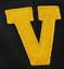 Lettre Veste Feutre seulement plein bloc Varsity Letter patch pour casquette de baseball
