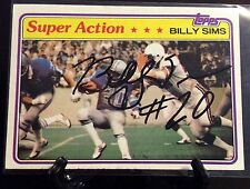 BILLY SIMS AUTOGRAPHED CARD