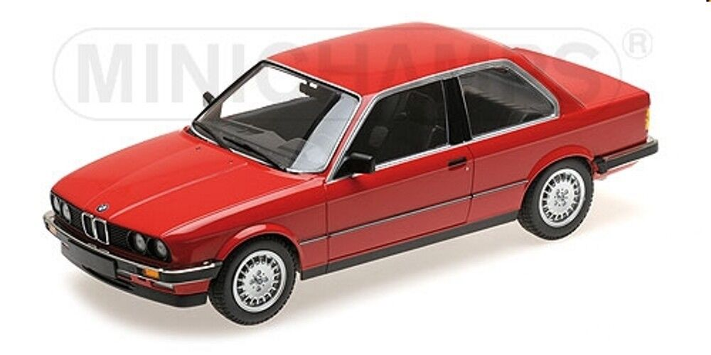 BMW 323i in ROSSO BJ 1982 1:18 Minichamps 155026000 NUOVO & OVP