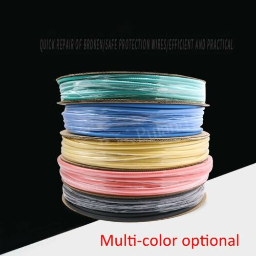 1mm Heat Shrink 2:1 Electrical Sleeving Cable Wire Heatshrink Tube 7 Colours