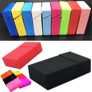 Silicone Cigarette Case Box Holder Tobacco 20 Cigarettes Pocket King Size Cover 140284046742