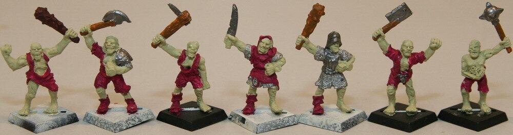 (7) Zombies for  Warhammer fantasyc Battle ( 2) - Rare OOP - Metal   al prezzo più basso