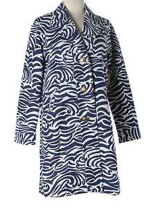 New Women Lilly Pulitzer On The Horizon Dandi Jacquard Trench Coat Jacket Sz XS