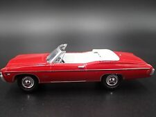 1968 CHEVY IMPALA CONVERTIBLE RALLY RED 1/64 DIECAST COLLECTIBLE MODEL CAR