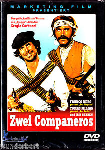 DVD-neu-amp-ovp-034-Zwei-COMPANEROS-034-1970-Franco-Nero-Tomas-Milian-Iris-Berben