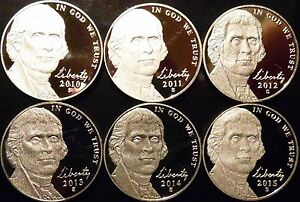 2000 TO 2009 S PROOF JEFFERSON NICKEL 12 COIN RUN DECADE SET