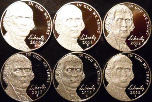 2000-2009 S Jefferson Nickel Gem Proof 12 Coin Date Set Decade Run