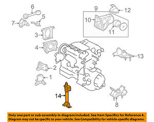 2002 lexus es300 engine mounts diagram on toyota oem engine motor mount torque strut 1230720021 ebay 1999 Chevy Venture Engine Diagram BMW V8 Engine Diagram
