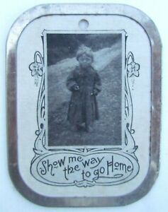 FRAMED-ANTIQUE-POSTCARD-RARE-EARLY-SHOW-ME-WAY-TO-GO-HOME-1907