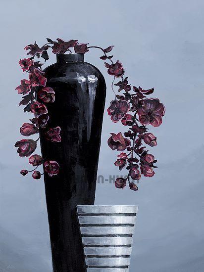 A.S.  Metal Vases II Stilleben Fertig-Bild 60x80 Wandbild