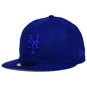 788aea189aa New York Mets MLB Ton-Wool Cap Hat New Era 59FIFTY Tonal Fitted ...