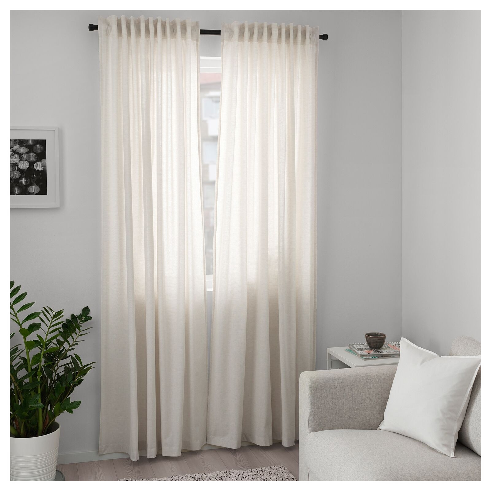 Ikea Curtains and Blinds Bedroom Living Room Room Room Window Sheer Panels 250x145cm Beige d8388f