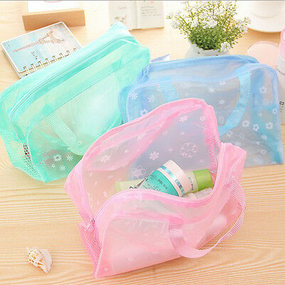1PC Travel Portable Makeup Bag Toiletry Bathing Transparent  Case Waterproof