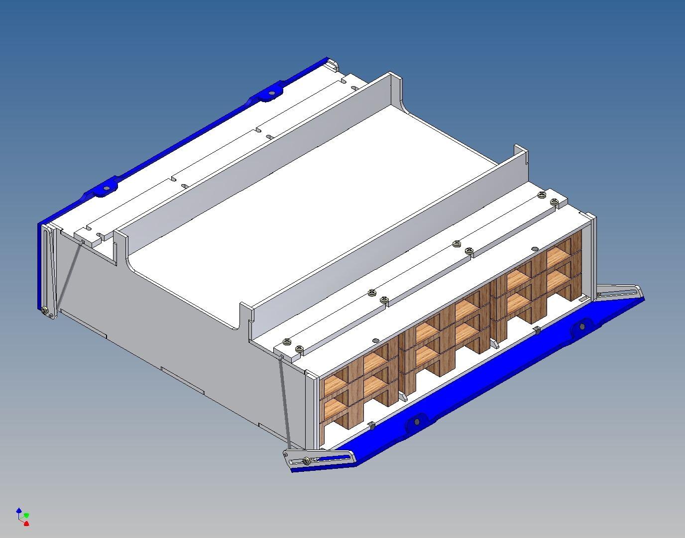 Pb190v-palettenstaubox (lleno) para Carson tráiler - 190 180 l x 46 h x 180 B