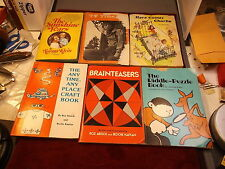 LOT OF OLD VTG KID'S BOOKS, THE RIDDLE-PUZZLE BOOK, HERE COMES CHARLIE, CRAFTS++