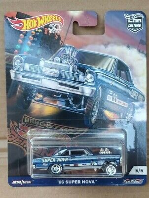 HOT WHEELS CAR CULTURE DRAG STRIP DEMONS '66 SUPER NOVA GASSER REAL RIDERS NIP
