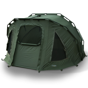 NGT CARP FISHING 2 MAN FORTRESS THREE RIB GREEN BIVVY TENT SHELTER WATERPROOF