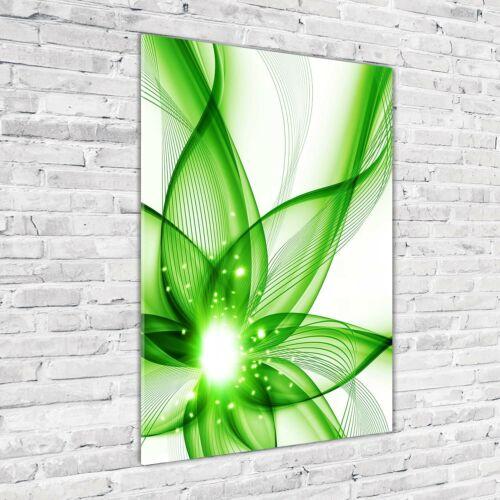 Wandbild Kunst-Druck auf Hart-Glas hochkant 70x100 Abstraktes