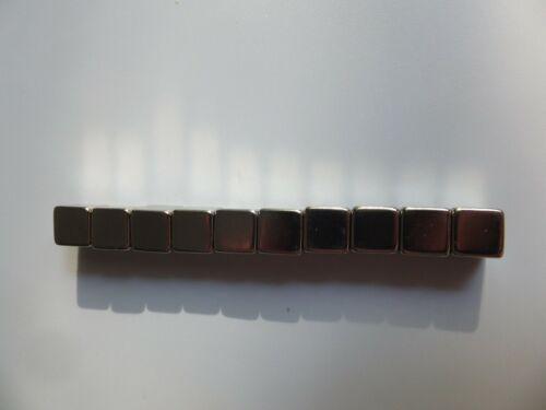 10 stück N52 10x10x10mm Block Quadrat Würfel Extreme Neodym Magnete Echte
