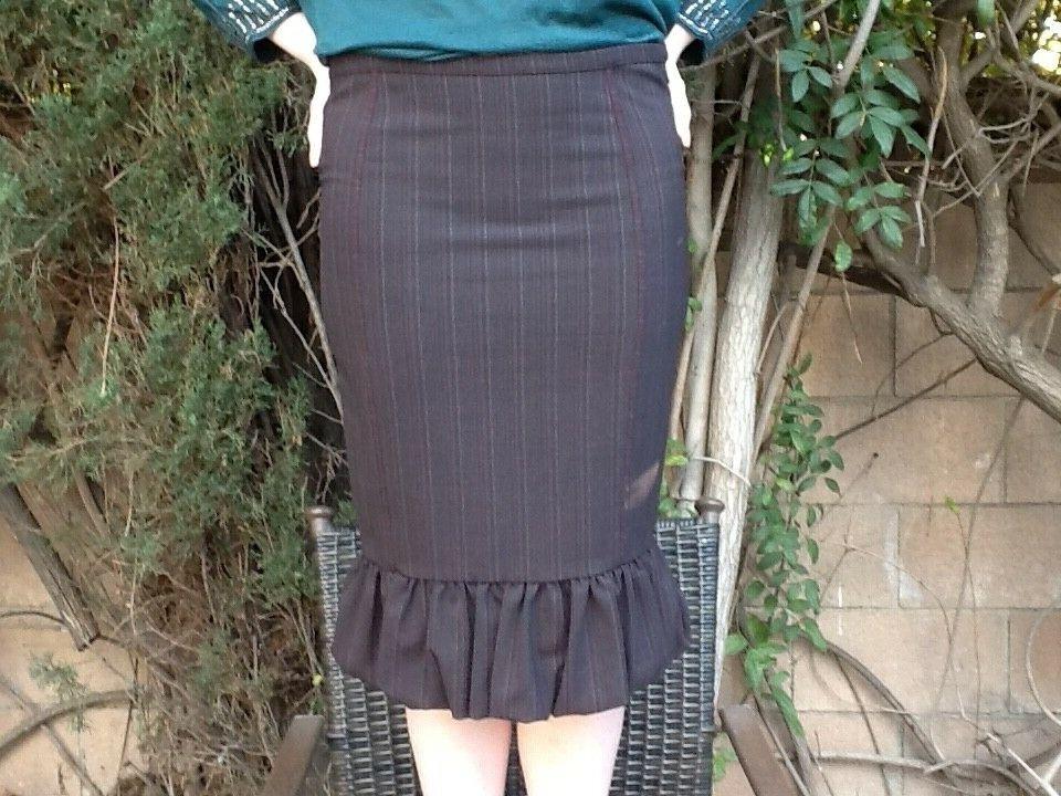 Roberto Cavalli Just Cavalli Ladies Office Formal Brown Pencil Skirt,Size 42,Ita