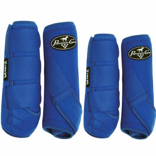 LARGE PROFESSIONAL CHOICE SMB 3 FRONT REAR HORSE SPORTS BOOTS 4 PACK ROYAL BLUE