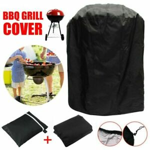 30/'/' Black Patio Round Fire Pit Cover Waterproof UV Protector Grill BBQ Shelter