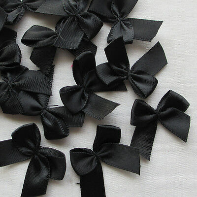 30pcs Mini Satin Ribbon Flowers Bows Gift Craft Wedding Decoration Upick ZXA0367