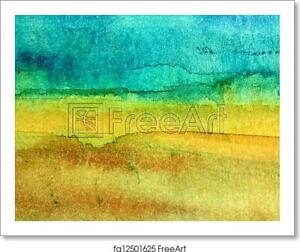Turquoise And Yellow Art Print Canvas Poster Wall Home Decor Ebay