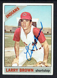 Larry-Brown-16-signed-autograph-auto-1966-Topps-Baseball-Trading-Card