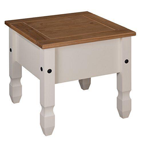 Muebles De Mesa Lámpara De Corona Pintado Mercers-Crema Pino