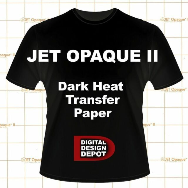 "NEENAH TRANSFER PAPER JET OPAQUE II FOR DARK FABRICS 100Pk 8.5"" x 11"" :)"