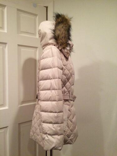 sintetica Jones Alabastro L in pelliccia cappuccio di Piumino con York New Piumino con piumino in zip q6wXTxZO