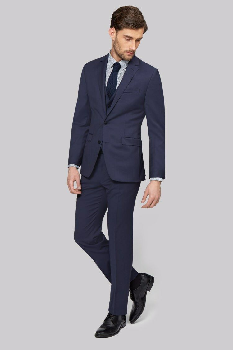 Mens Moss 1851 Tailored Fit bluee Suit Trousers 34R RRP  CS074 01 G