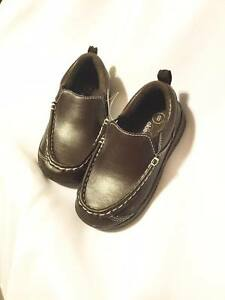okie dokie loafers brown faux leather dress casual non