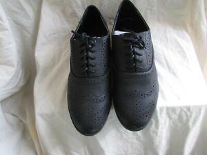 LADIES BLACK BROGUES SIZE 6   eBay