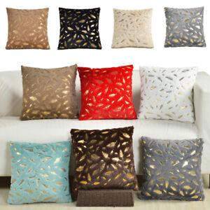 Decorative Gold Leaves Throw Pillow Case Sofa Cushion Covers 18x18 Home Decor