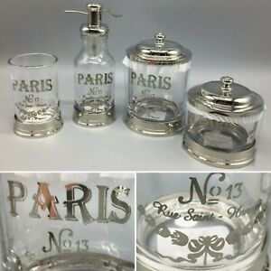 4pc Bella Lux Bath Accessory Set Paris