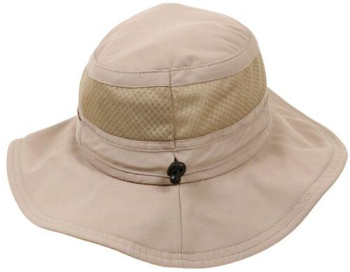 Wide Brim Booniehat Khaki Adjustable Mesh Summer Sun Jungle Hat Rothco 59555