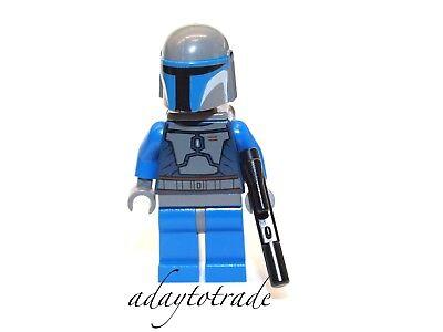 LEGO Mini Figure Star WarsMANDALORIAN WARRIOR Like JANGO FETT Gun SW296 RBB